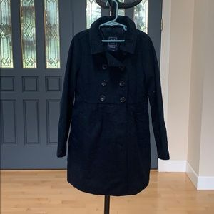 Gap kids girls' navy pea coat sz M